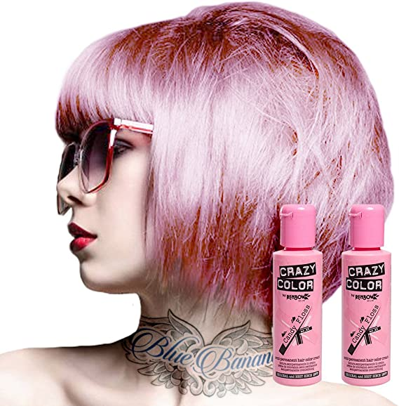 Tinte capilar semi-permanente de Crazy Color 100ml (Candy Floss Pink - rosa algodón de azucar)