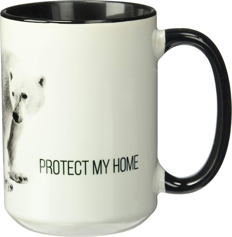 The Mountain Men's Polar Protect My Home-15Oz Coffe Mug, black, 15 Oz