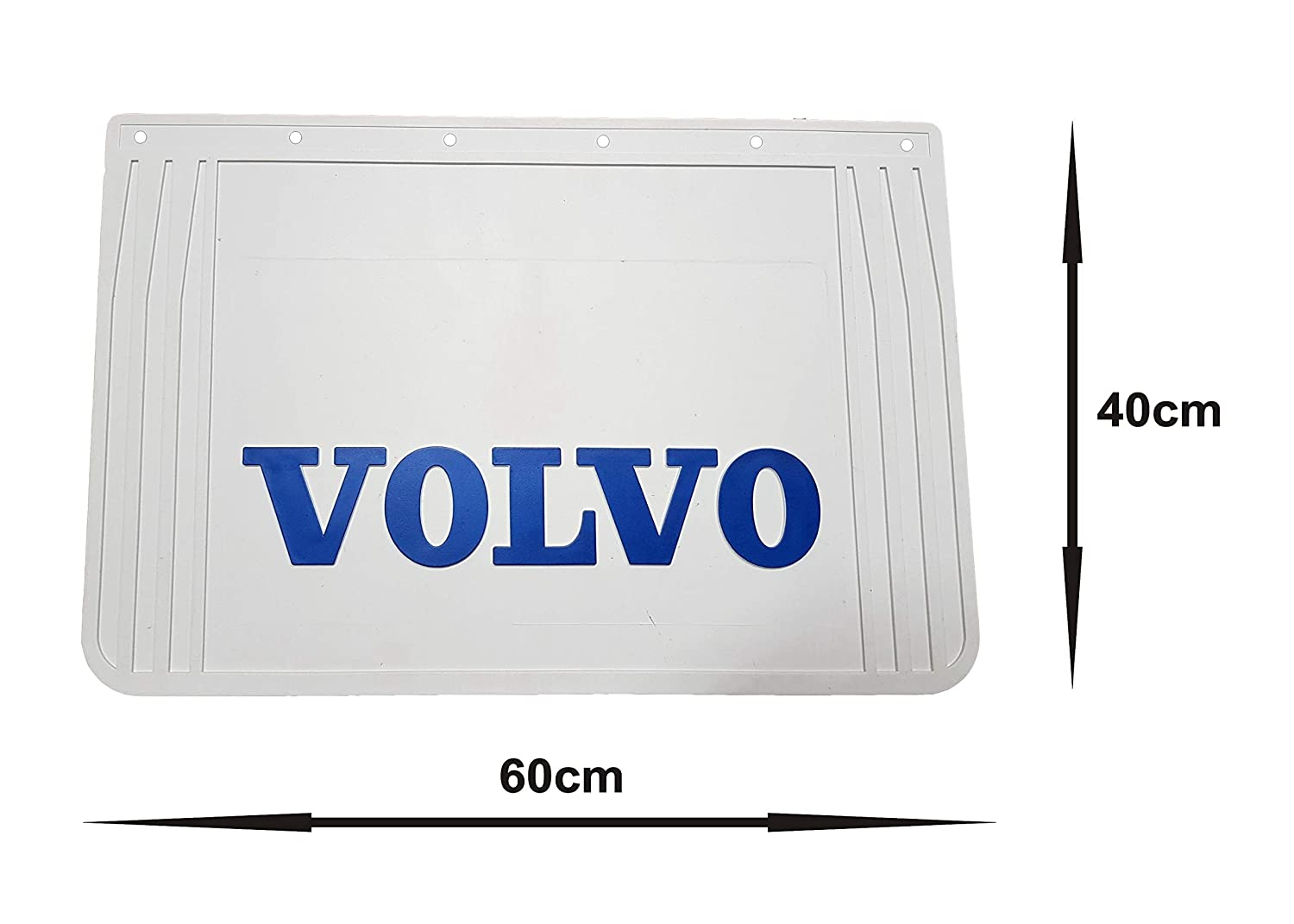 Rubber Rear Mudguards Mud Flaps with White Reflective Inscription for Truck Lorry Trailer Set of 3 Pcs