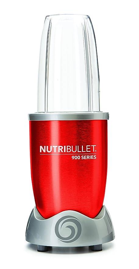 NutriBullet NB9-0928-R - Extractor de nutrientes original con recetario en Español, 900 W, 25.000 rpm, color rojo: Amazon.es: Hogar