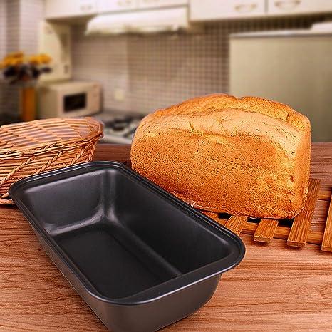 sedeter – Molde para pan antiadherente pan lata de grosor de acero al carbono posiciones de