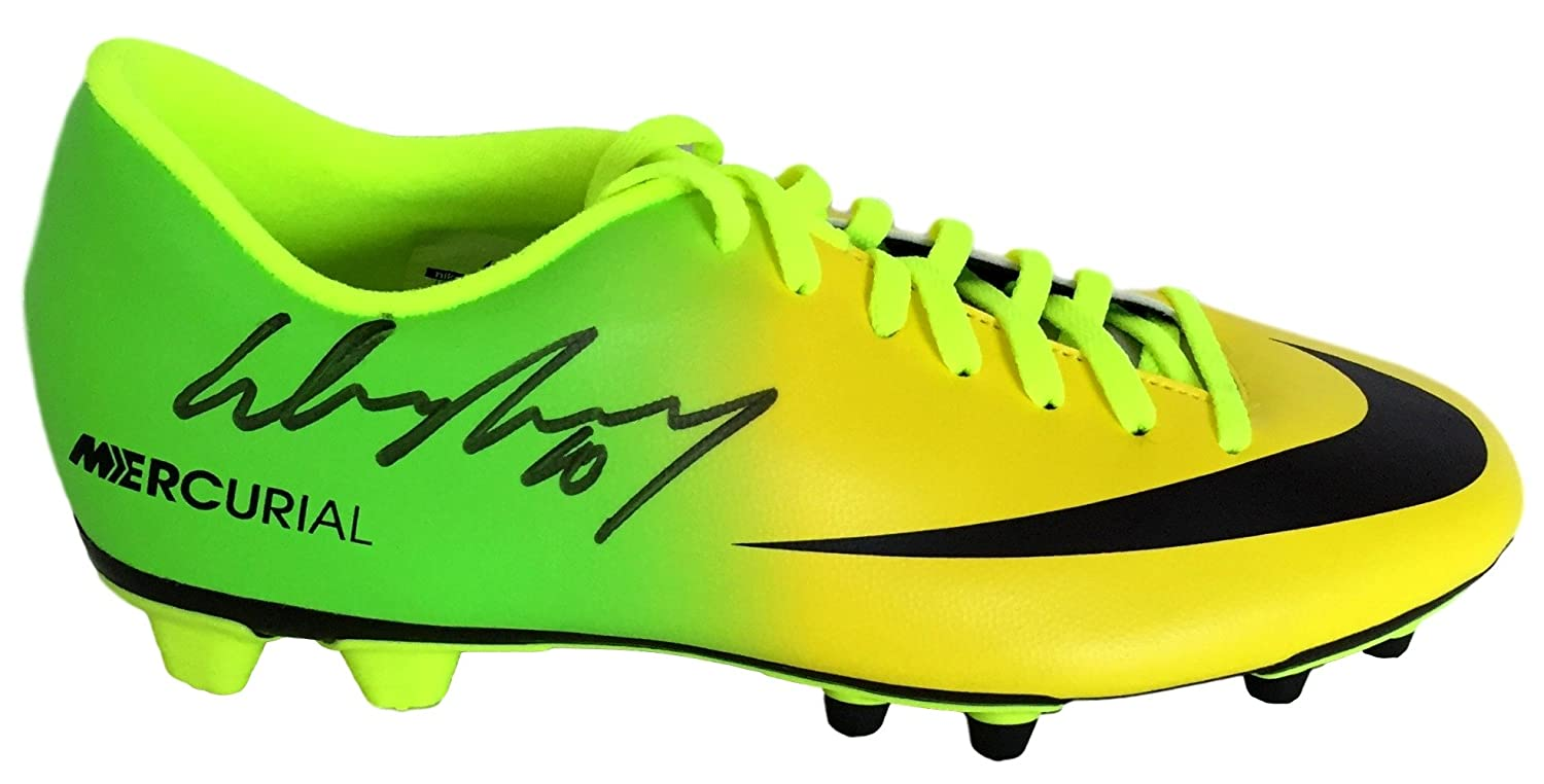 e4e68ccf82c5 Wayne Rooney Signed Mercurial Yellow Soccer Cleat JSA LOA + Icons at  Amazon s Sports Collectibles Store
