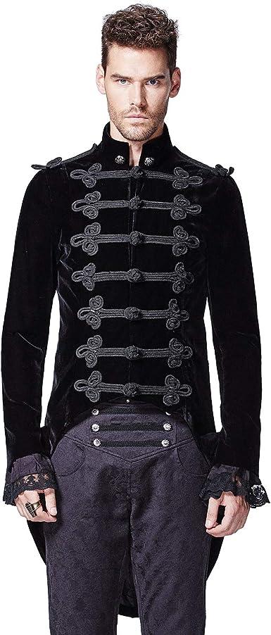 Zipped jacket vest gothic punk military biker straps braidFashion PunkRave Men