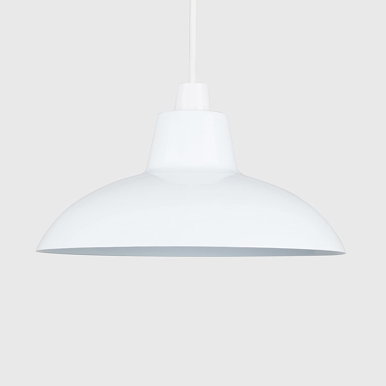 Chrome Ceiling Light Shade Gu10 Bulb Vintage Pendant Lighting Glass KitchenLight