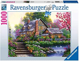 Ravensburger Romantic Cottage 15184 1000 Piece Puzzle for Adults, Every Piece is Unique, Softclick Technology Means Pieces Fit Together Perfectly