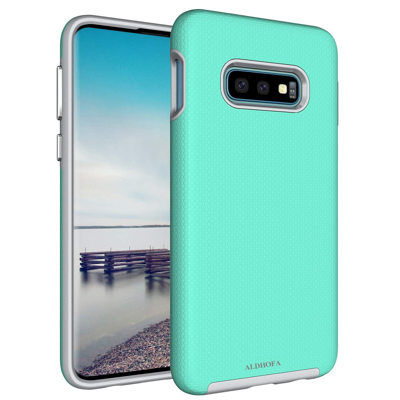 ALDHOFA Coque Samsung Galaxy S10e Antichoc Slim Dual Layer Protective Housse Etui Coque pour Samsung Galaxy S10e-menthe