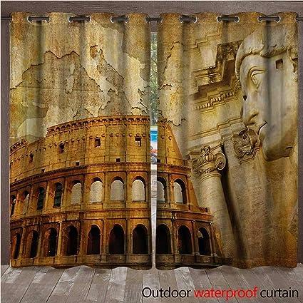 Amazon Com Blountdecor Retro Outdoor Blackout Curtain