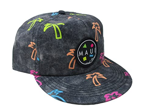 1d79efef04f6a6 Maui & Sons Men's Shaka Brah Flip up Snapback Hat (Black, One Size ...