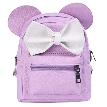 24df7b6d7 Women Kids Girls Leather Shoulder Backpack Cute Mini Cartoon Mouse Ear  Straps Bag Child Student School