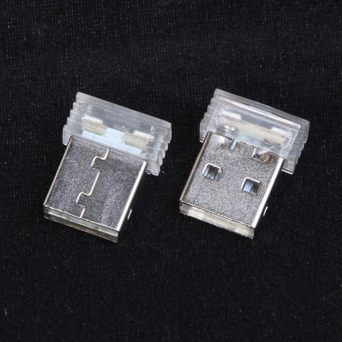 TOOGOO Mini USB Led Light Night Lamp Atmosphere Wireless Car Light Foot Lamp Dc 5V Auto Interior Decoration Lamp Styling Ice Blue
