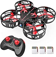 SNAPTAIN H823H Plus Portable Mini Drone for Kids, RC Pocket Quadcopter with Altitude Hold, Headless Mode, 3D Flip, Speed Adj