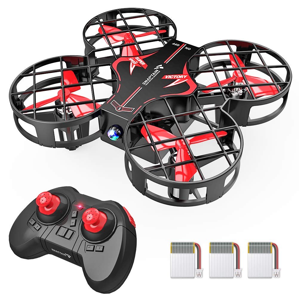 SNAPTAIN H823H Plus Portable Mini Drone for Kids, RC Pocket Quadcopter with Altitude Hold, Headless Mode, 3D Flip, Speed Adjustment and 3 Batteries by SNAPTAIN