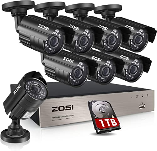 ZOSI 8CH Security Cameras System