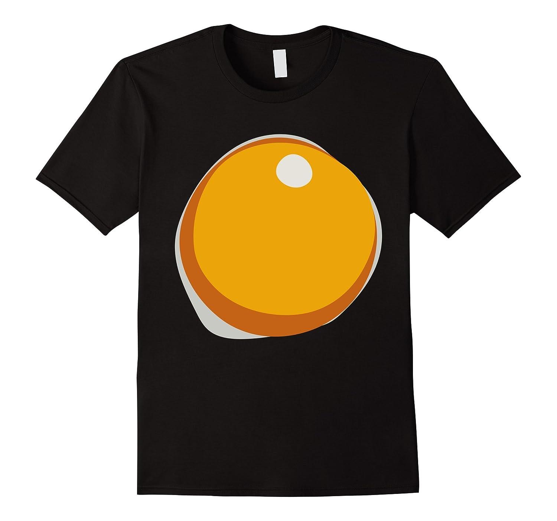 Fried Hard Boiled Egg Yolk Breakfast Halloween Costume Tee-T-Shirt
