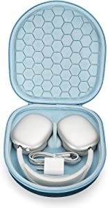 Case for New Apple AirPods Max Can Enter Sleep Mode , Hard Organizer Portable Carry Travel Cover Storage Bag (Blue)