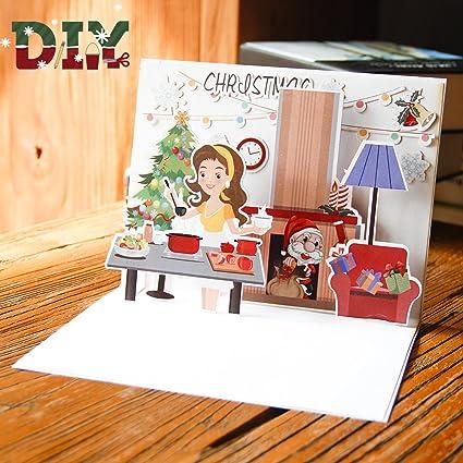 3D Pop-up Tarjeta de Felicitación Paper Spiritz Pop up ...