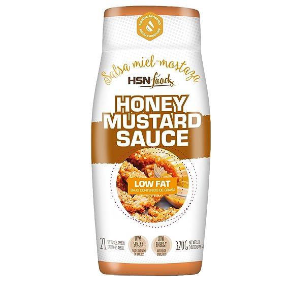 HSN Foods - Salsa Miel Mostaza - Baja en Calorías - Apto para la Dieta Fitness