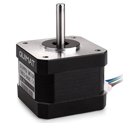 Motor de pasos Nema 17 12V, 34mm / 0.4A 0.26Nm (36.8oz.in) QD06