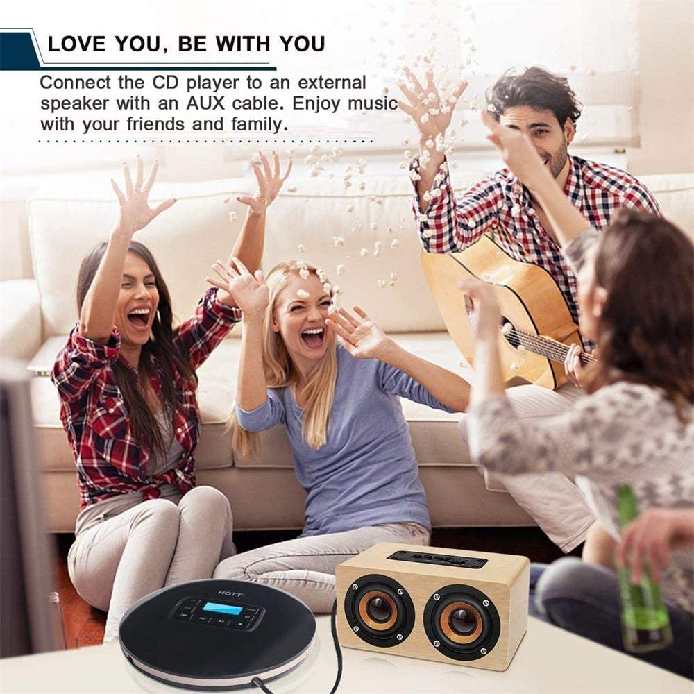CCHKFEI Personal Compact Disc CD Player with LCD Display and Headphones Portable CD Player CD Player Portable Compact Walkman with Anti-Scratch Skip Protection Anti-Shock Function