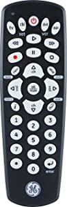 GE Universal Remote Control for Samsung, Vizio, Lg, Sony, Sharp, Roku, Apple TV, RCA, Panasonic, Smart TVs, Streaming Players, Blu-Ray, DVD, Simple Setup, 4-Device, Black, 34708