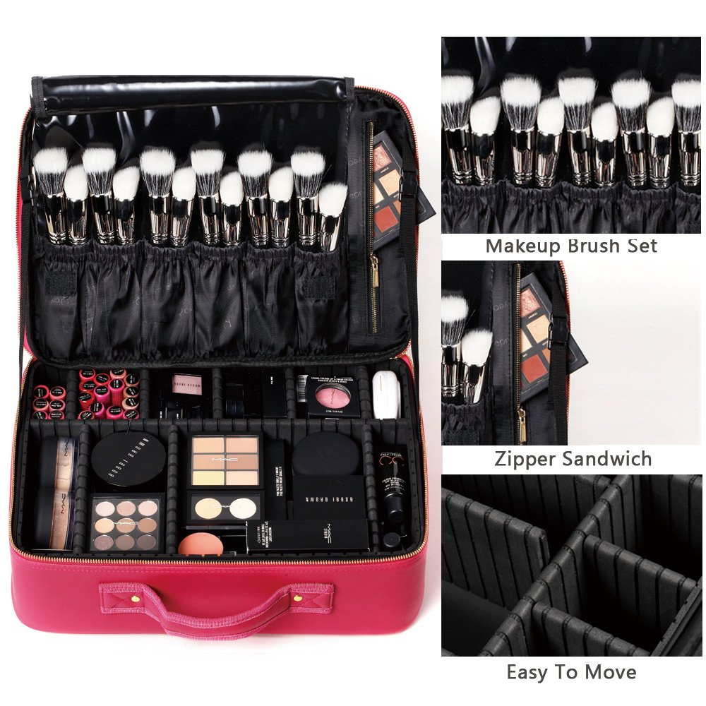 ROWNYEON Professional Travel Makeup Case