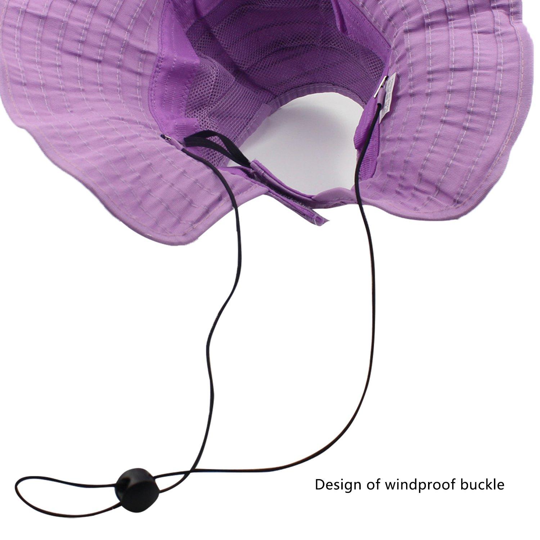 Womens Sun Hat SunJolly Portable Summer Wide Brim UV Protection Floppy Foldable Roll Up Beach Hat and 2PCS Parent-Child Hat for Travel (2PCS Parent-Child, Purple)