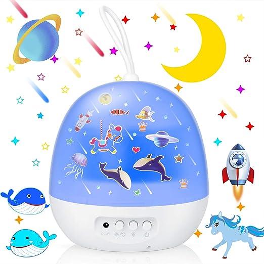 EXTSUD Proyector Estrellas Lámpara Proyector Infantil 360 ...