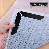 POAO Teppichgreifer Antirutschmatte für Teppich-Aufkleber Wiederverwendbare Funktion waschbar Büro Schlafzimmer Küche Bad idealer Rutschschutz für Teppich - weiß 16 Stück