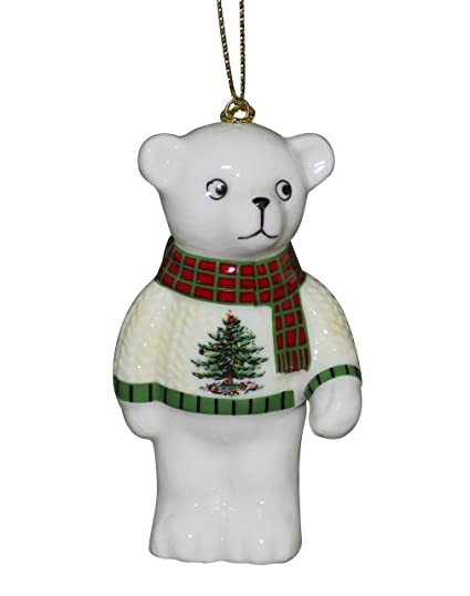 spode christmas tree ornament teddy bear