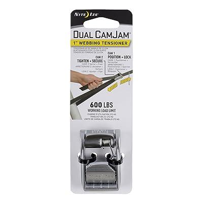 "Nite Ize Dual CamJam Webbing Tensioner, Patented Dual Cam Zinc Alloy Buckle Fits Standard 1"" Webbing, 600 LB Load Limit: Home Improvement"