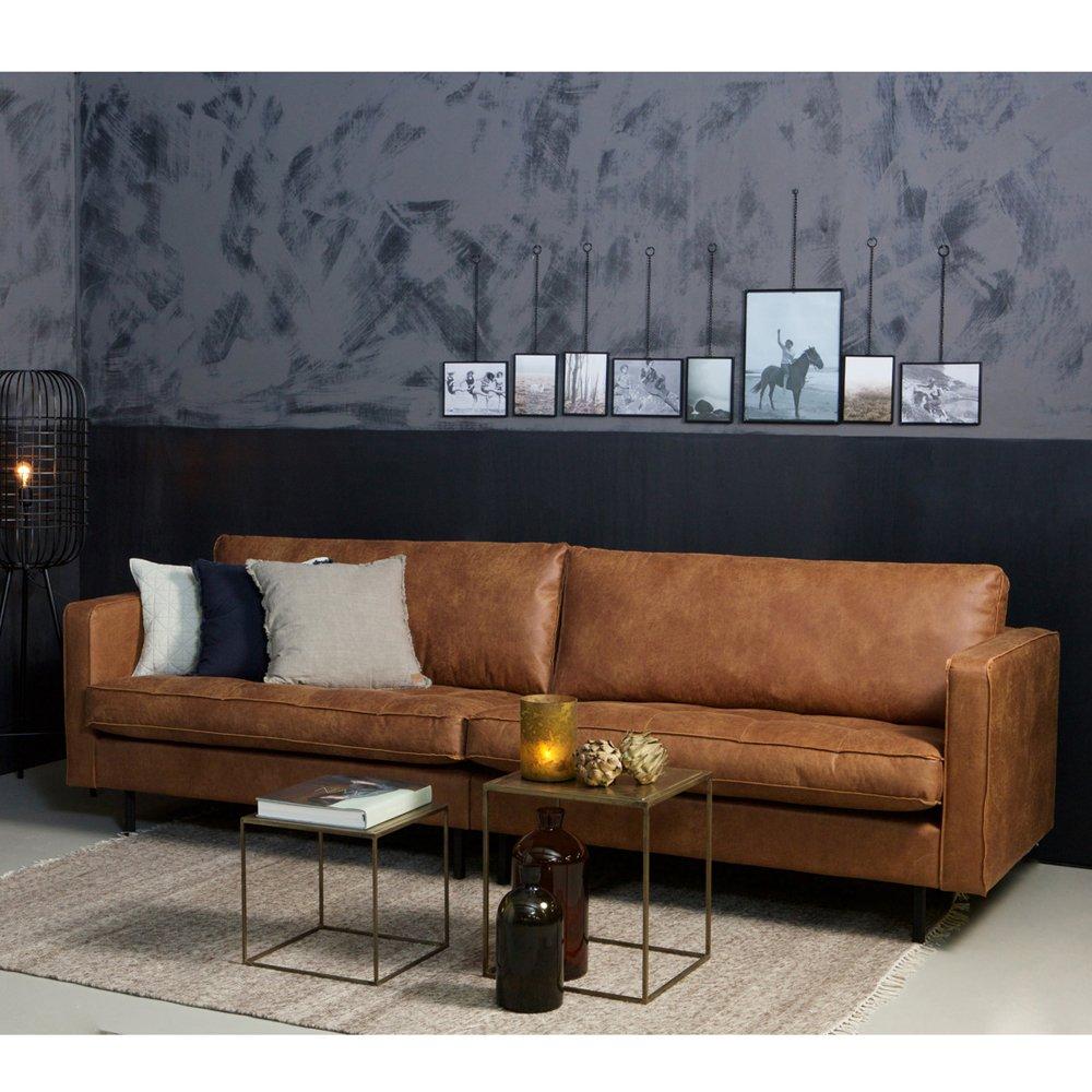 3 Sitzer Sofa Rodeo Classic Echtleder Leder Lounge Couch Ledersofa