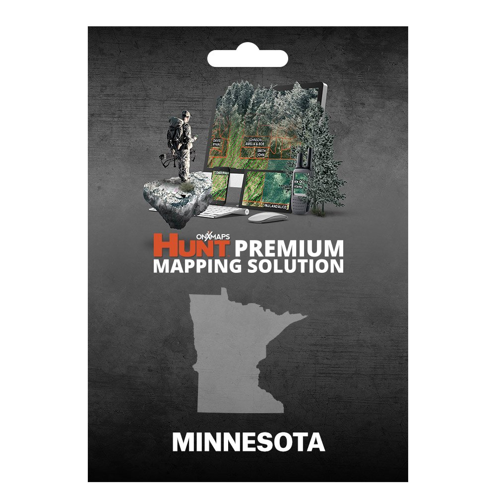 onXmaps HUNT Minnesota: Digital Hunting Map For Garmin GPS + Premium Membership For Smartphone and Computer - Color Coded Land Ownership - 24k Topo - Hunting Specific Data