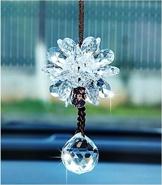 B Crystal Snowflake Car Rear View Mirror Hanging Accessories SZWGMY Car Mirror Pendant,Crystal Car Rear View Mirror Pendant Hanging Decorations Ornament