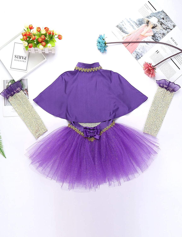 Yeahdor Little Girls Circus Show Costume Fancy Dress One Piece Dance Leotard Performance Uniform Halloween Outfits