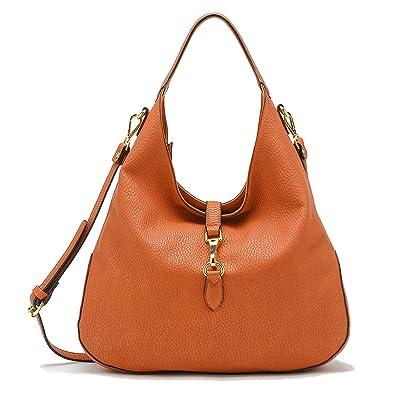 87dbf14cd190 Amazon.com  Tosca Slouchy Dog Clip Hobo Handbag (Orange)  Shoes