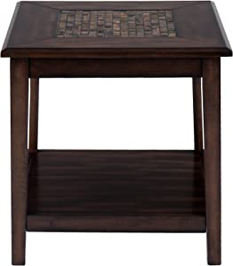 """Jofran: , Baroque, Square End Table, 24""""W X 24""""D X 24""""H, Baroque Brown Finish, (Set of 1)"""