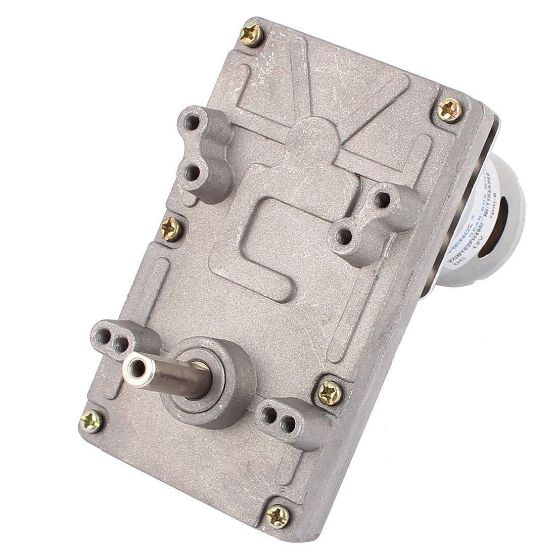 eDealMax DC12V 6rpm alto par eléctrico DC gusano de la caja de engranajes del motor reductor de velocidad - - Amazon.com