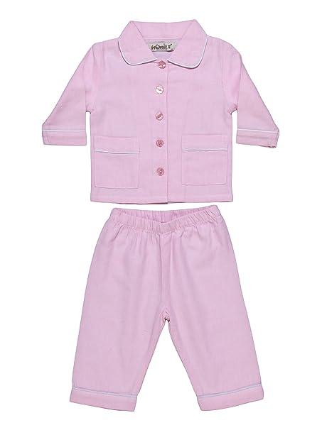 Allegrini Pijama de bebé franela 100% algodón Lucy Rosa 9 Meses (74)