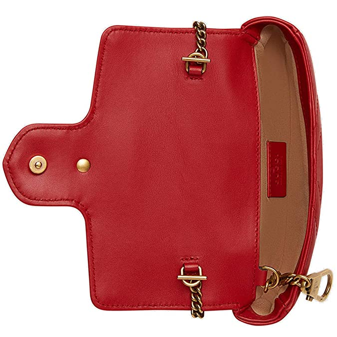 Amazon.com  Gucci GG Marmont Matelasse Leather Super Mini Bag Handbag  Article 476433 DSVRT 6433  Shoes ac2aa25198577