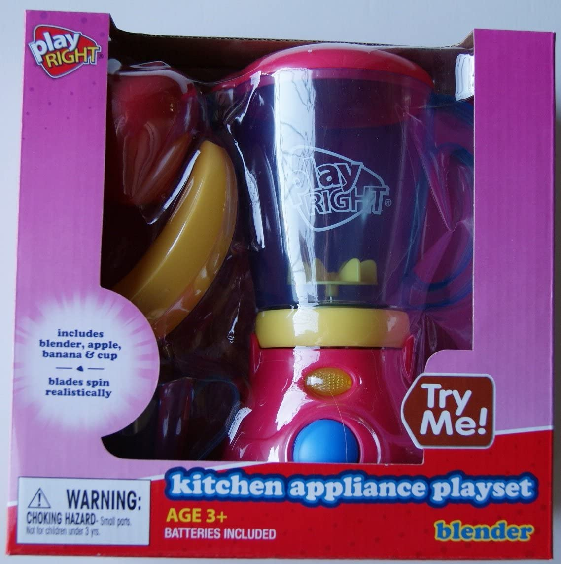 PlayRight Kitchen Appliance Blender & Food Playset