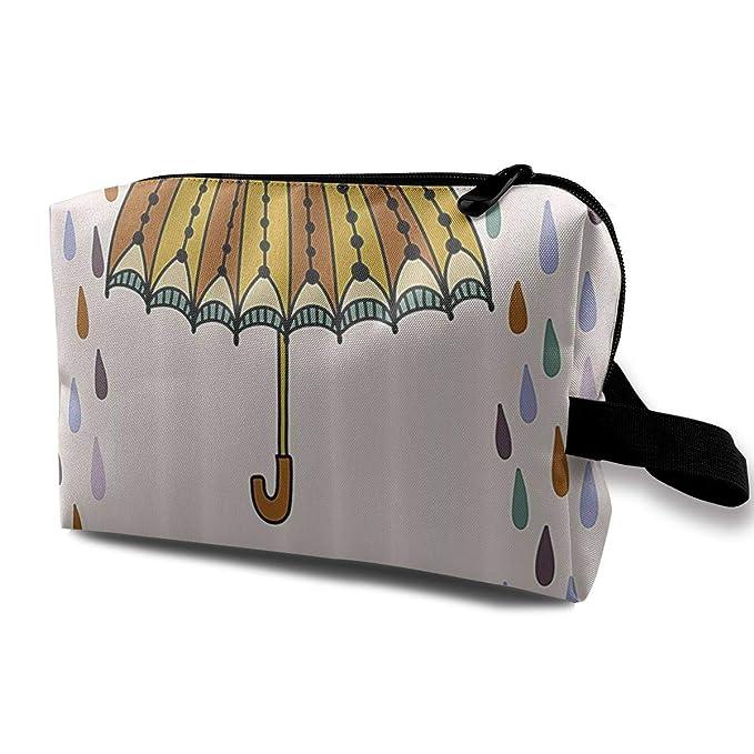 fd639f8ed17a Amazon.com: Travel Hanging Cosmetic Bags Umbrella Colorful Rain ...