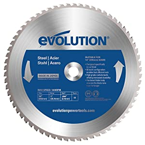 Evolution Power Tools 14BLADEST Steel Cutting Saw Blade, 14-Inch x 66-Tooth