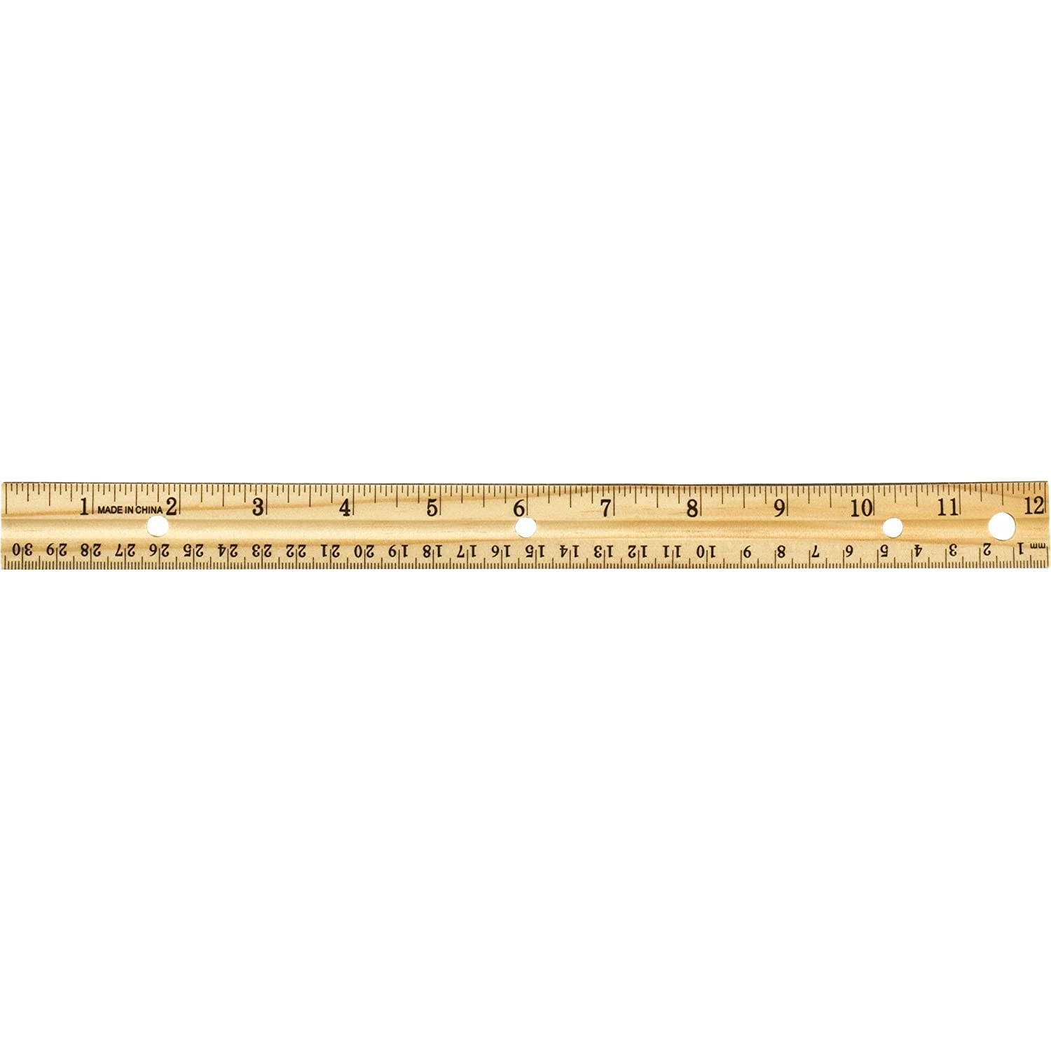 Officemate OIC 12-Inch Wood Ruler, Box of 12 (66009) Officemate International