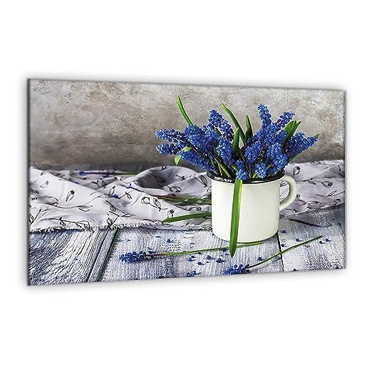 Compra decorwelt | para cubrir la vitrocerámica Flores Azul ...