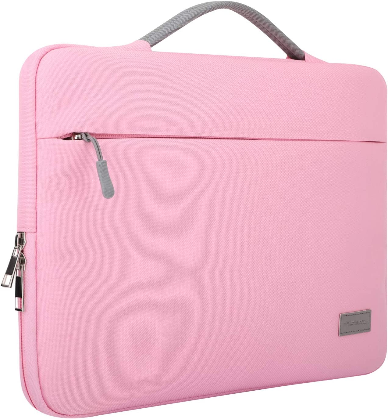 """MoKo 13-13.3 Inch Laptop Sleeve Case Compatible with MacBook Air 13-inch Retina, MacBook Pro 13"""", HP Dell Asus Acer Lenove Notebook Computer, Protective Carrying Bag with Pocket, Pink"""