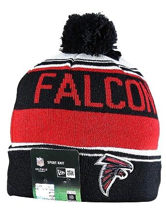 1ed79f44754 Amazon.com  ATL FALCONS Sport Knit Winter Wool Warm Beanie Pom Hat  Multicolour  Clothing