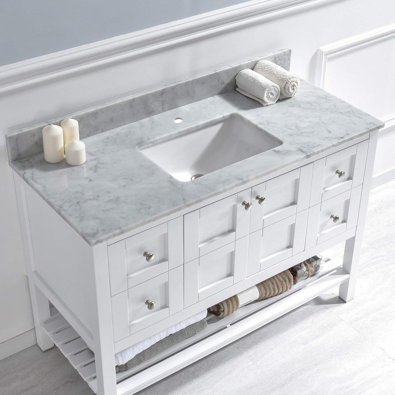 Single Faucet Hole Carrara Carra White Natrual Marble Stone ...