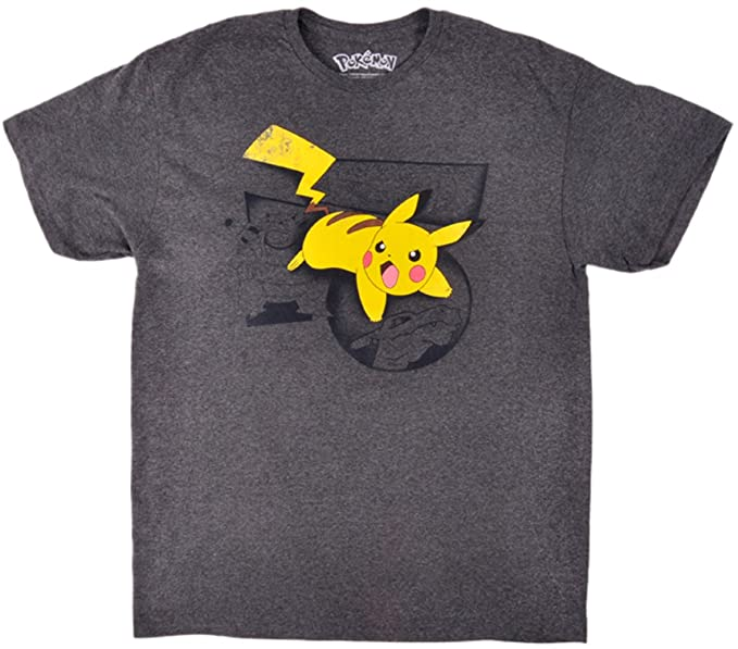 690a5bb2 ... T Shirt Charcoal Clothing Pokemon Pikachu T Shirt Nintendo Charcoal  Large Source · Pokemon Vintage Pikachu T Shirt Royal Blue Merch2rock  Alternative