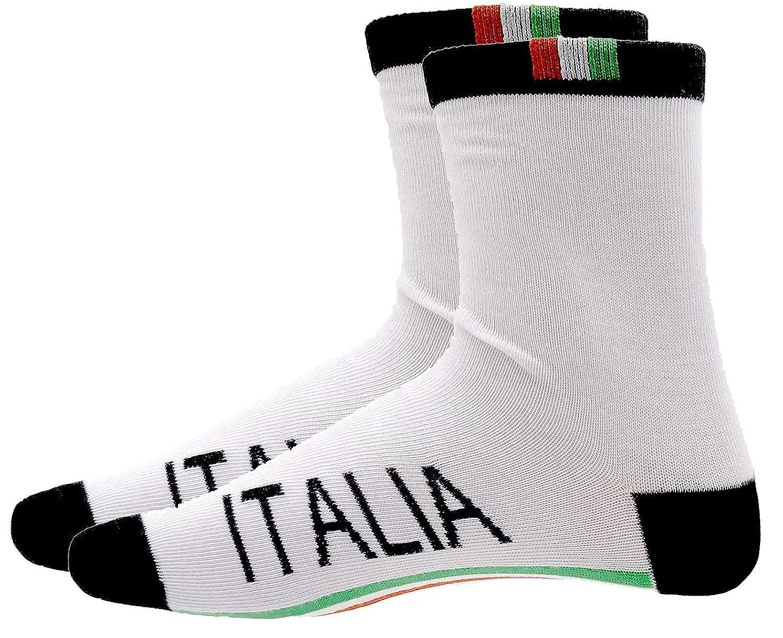 Calzini Corti Sportivi Fantasia Stampa Italia Altezza Caviglia Pacco da 12 Paia Calze Uomo