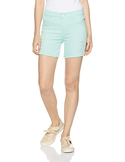 Jealous 21 Women's Denim Shorts Shorts at amazon